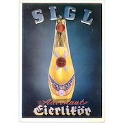 Decorative Liqueur advertising postcard from Germany