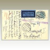1933: Austrian Air Mail, Wien to Budapest