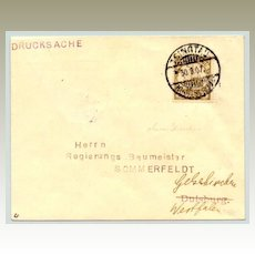 1907: German Post in China. Qingdao Cover with scarcer Cancellation