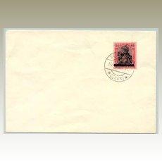 1920 Germany Saar 80 Pfennig overprinted Stamp on Cover