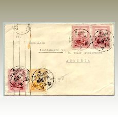 Chinese Letter sent Tianjin to Austria 1947