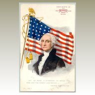 George Washington: Patriotic Postcard – Advertisement for Candies