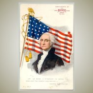 George Washington: Patriotic Postcard – Advertisement for Candies