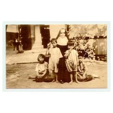 1936: Old Siam: Christian Nun with Children