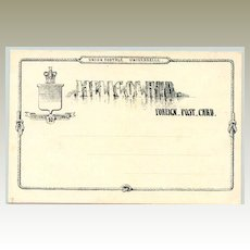 Heligoland – Helgoland: 10 Pfennig Foreign Post Card, mint