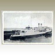 W.W.II.: Postcard of a Ship as Field Post
