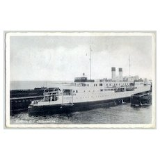 W.W.II.: Postcard of a Ship as Field Post