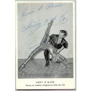 Lady X & Co: 2 French Artist from the 1940s. Autographs