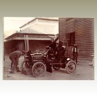 Old China / Austria: 2 Photos of old Limousine and Rickshaw