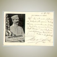 1902: Max Gabriel autograph: Director of the American Orchestra Concerts
