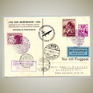Austria Hungary Letter Day Special Flight 1935