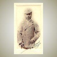 Ca. 1905: Larger mounted Photograph of a Gentleman