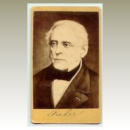 ca. 1860: The famous composer Aubert on Carte de Visite