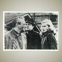 Karl Malden: Autograph on b/w photo. COA