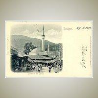1898: Imperial Austria: Sarajevo. View of Carsija Town in Bosnia Herzegovina