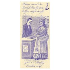 Early Austrian Advertising Label for Coffee