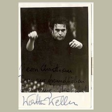Conductor Walter Weller Authentic Autograph on Photo from Wien