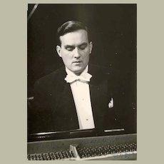 Pianist Alexander Jenner. Authentic Autograph with CoA