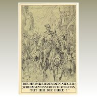 1918: Ludwig Koch. Propaganda Postcard for War Bonds