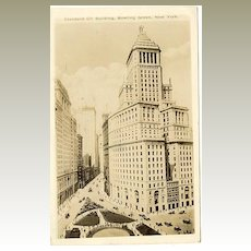 1930: The Standard Oil Building. Photo postcard to Austria