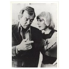 Elke Sommer Autograph on b/w photo