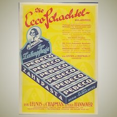 Advertising for box maker from c. 1920. 9 x 11 inches