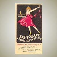 ca. 1920: Decorative Label of Hungarian company