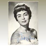 Giulia Rubini Autograph on b/ photo. CoA