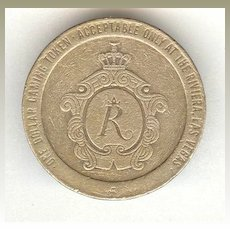 Casino Rivera Gaming Chip. 1 Dollar from 1979