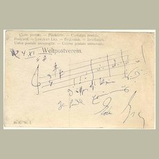 1948: Edmund Eysler, Austrian Composer Autograph. CoA