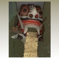 Old Bali: Decorative wooden Mask. 100 Years old.