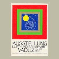 1969: Liechtenstein – Vaduz: Aeronautics Exhibition Post Card