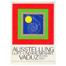 1969: Liechtenstein – Vaduz: Aeronautics Exhibition Post Card