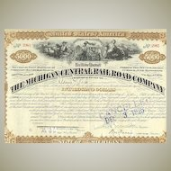 Michigan Central Railroad Company: 5.000 $ Mortage Loan