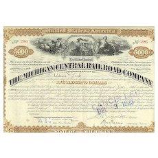 Michigan Central Railroad Company: 5.000 $ Mortage Loan