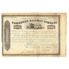 1859: The West Philadelphia Passenger Railway Company
