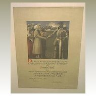 1917: Attractive lithographed Poster by Austrian Art deco Artist. Original