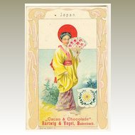Japan / Austria: Art Nouveau Chocolate Trading card