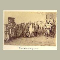Makallah Street Scene. Fine old Photo from Kenya, Africa