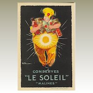 Conserves Le Soleil: Decorative Advertising Postcard.