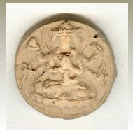 18 – 19th Century: 2 Old Buddhist token, earthenware