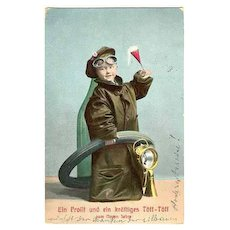 1908: New Years Greetings Postcard from Austria.