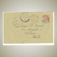 1904: Indo China / Singapore /Italy: Postal Card