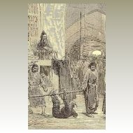 1873: Sketches in Persia: Bazaar at Teheran. From the London News