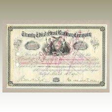 1910: Twenty Third Street Railway Company. Decorative. 100 Shares