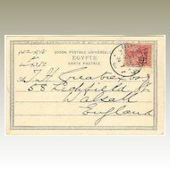 1903: China / Germany / Egypt: Ship Post to England