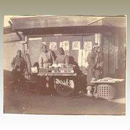 Old China Postcard, Boxer Rebellion Period. Vendors at Street