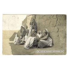 1890s: Native Women, Omdurman. b/w postcard