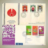 20 old FDC  Hong Kong. Quality Lot, scarce Cancellations.