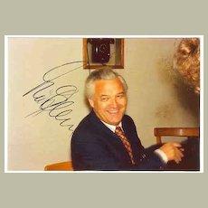 1975: Theo Adam Autograph on Private Photo. CoA